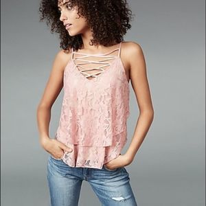 3 for $20 Express Lace Top pink size medium